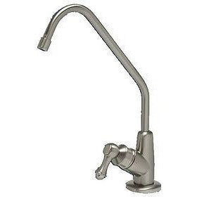 Brushed nickel reverse osmosis faucet