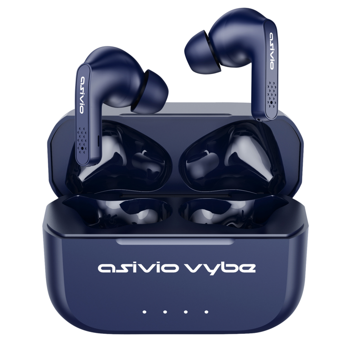 Asivio Vybe Wireless Earbuds - Blue - ASIVIO