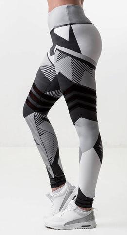 grey and white workout leggings quick dry