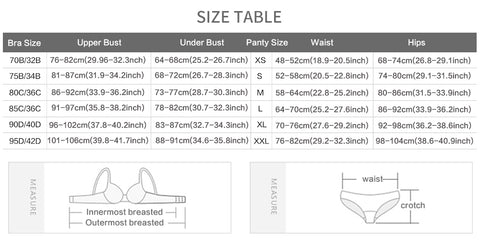 Bra Size Fitting Guide