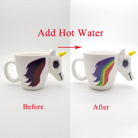 Add Water Unicorn Changes Colour