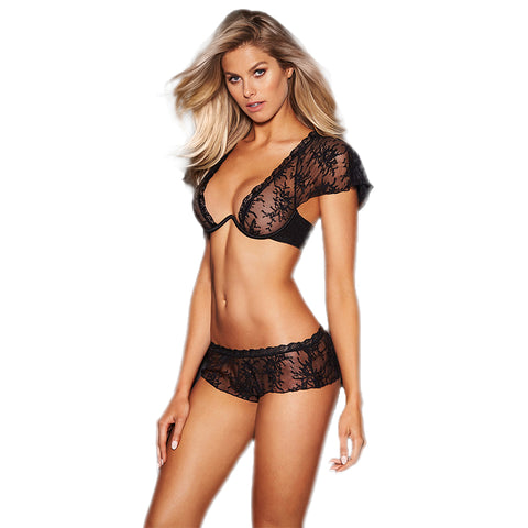 Lucy Panties Low Rise Hipster Lace Embroidery Part Of Matching Lucy Capped Sleeve Plunge Bra