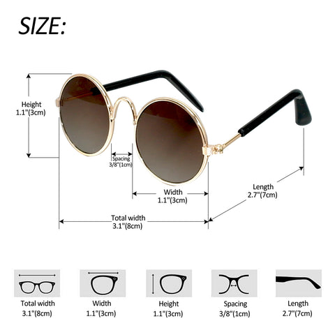 Pet Sunglasses Size Guide