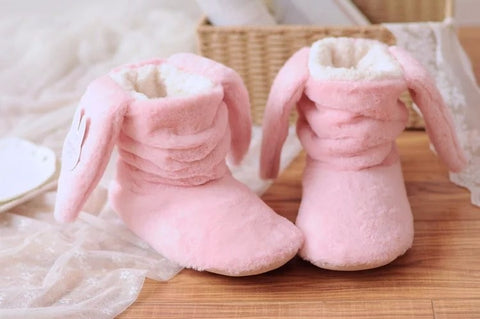 Cute Rabbit Slippers Available in Pink or Lilac