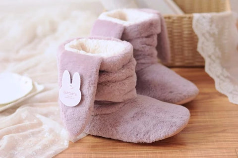 Lilac Rabbit Slippers