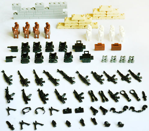 Military Set Toy Weapons 96 Piece Set