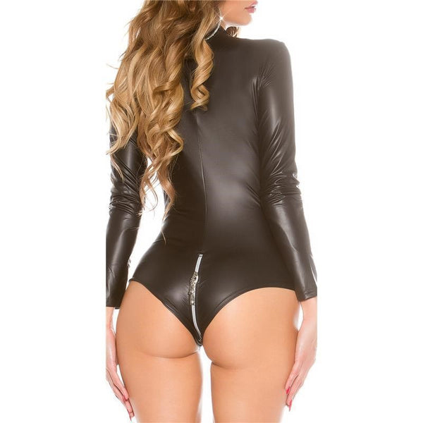 Latex Pvc Playsuit. Zip Front. Zip Rear. Pole Dance/Nightclub Bodysuit