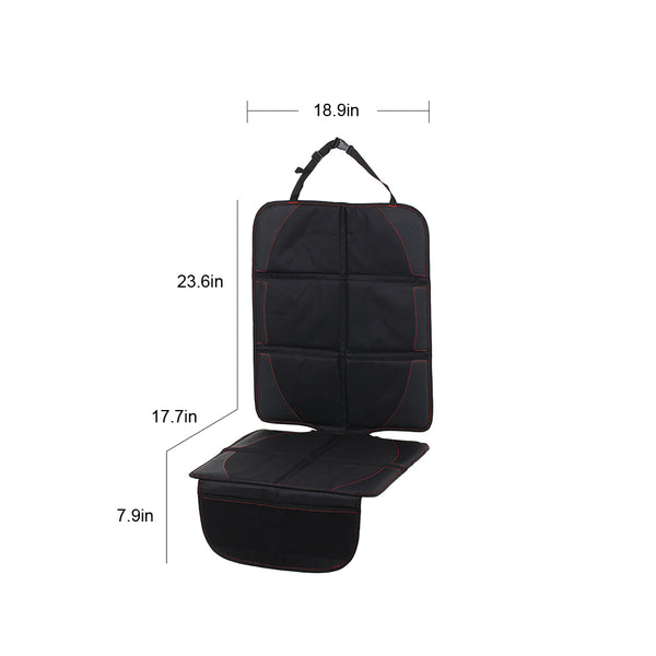 Car Seat Protector. With Storage. Seat Cover Full-Length, Non-Slip, Padded, Waterproof.