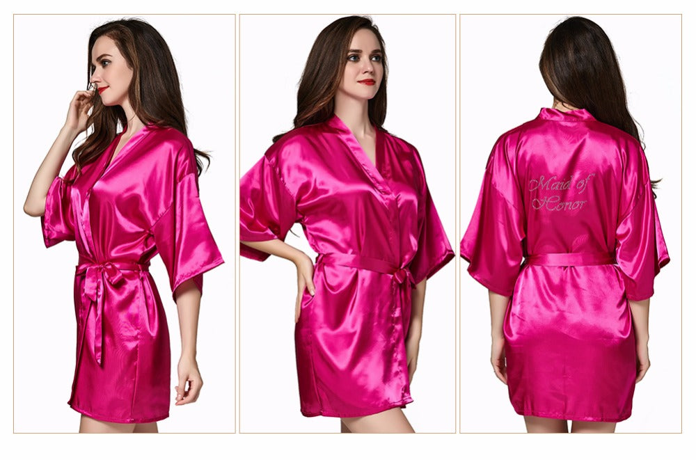 Satin Dressing Gown Bridal Party Wedding Robe/Dressing Gown ...