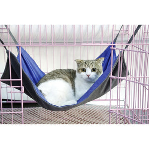 Cat Hammock Bed available in two sizes Small or Large. 4 colours Black, Blue, Pink or Purple