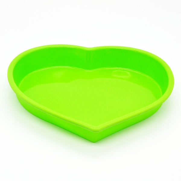 Heart Shaped Silicone Non Stick Cake Mould. Oven Proof and Freezer Safe. Available Two Colours, Red or Green. Kitchen Accessories