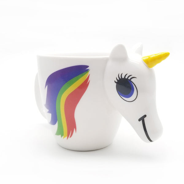 Unicorn Ceramic Mug 350ml. 3D Colour Changes With Temperature