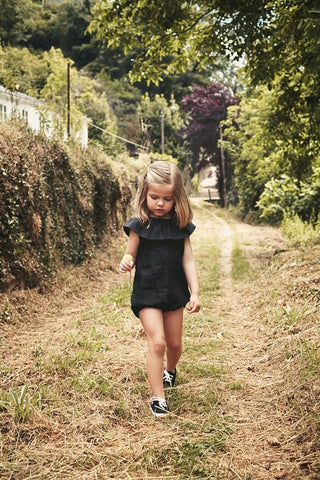 Kids/Girls Black Casual Playsuit/Romper Suit. Age 0 -5 years.