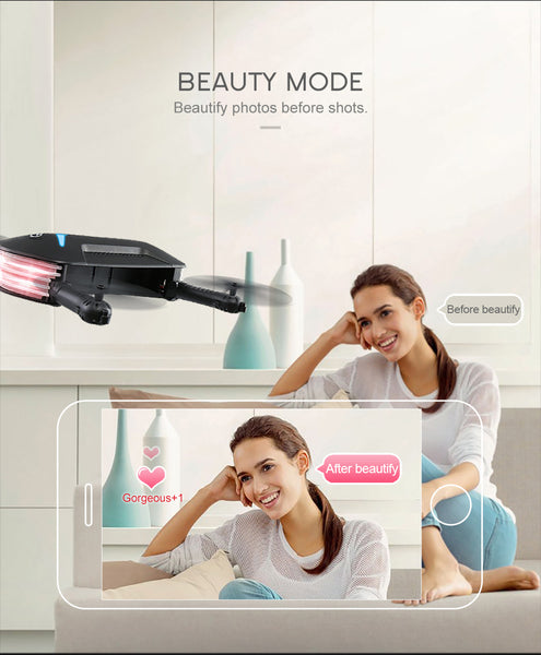 "Feautures ""Beauty Mode"" Making your selfie images more beautiful"