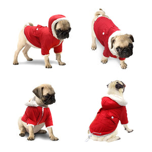 Small Dog - Lightweight, Warm Fleece, WindProof Coat with Hoodie.