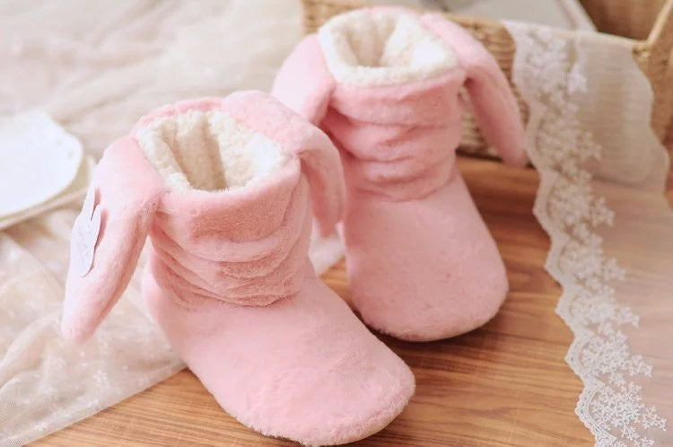 Bunny Rabbit Slippers. Available 2 x Colours - Pink or Lilac. Kids, Teenage, Adults. UK Sizes 2.5, 3.5, 4, 5.