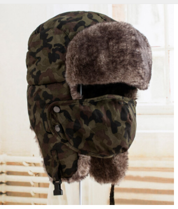 Camouflage Green Russian Hat