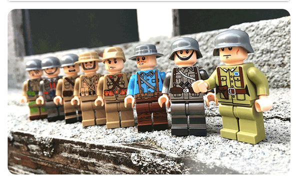 WW2 Soldier Figures. Brick Toy. 24pc Set Building WW2 Soldier Figures Brick Toy - Compatible with other brands