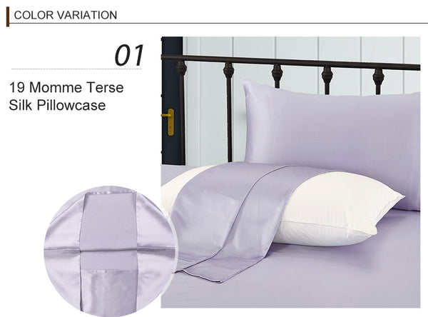 Luxury 100% Silk Pillowcase Natural Mulberry 40cm x 60cm. Available in various colours.