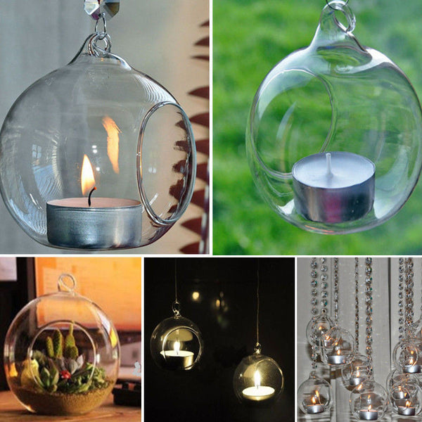 Stunning Bubble Effect Translucent Tealight Candle Holder - Stylish Wedding/Party Decoration. Or Garden/Barbecue Decoration. Creates ambient, mood lighting for any special occasion.