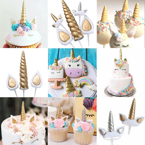 Unicorn Cake Decoration Kit - Unicorn Cake Themed Accessories/Decorations 14 cms
