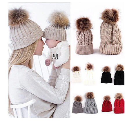 Mother & Baby Matching Hats Set Various Colours Avaialable, White, Grey, Khaki, Black or White