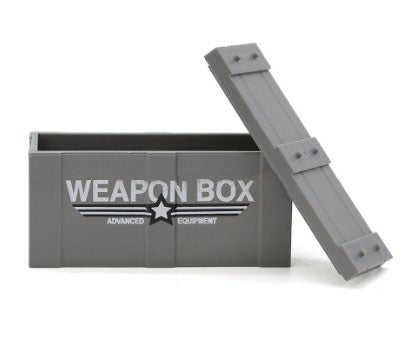 Weapons Box. 1 x Piece part of set. Available in Grey, Green & Brown. Compatible with other brick ranges.