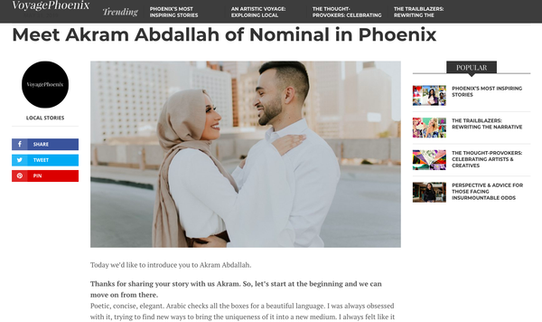 VoyagePhoenix | Meet Akram Abdallah of Nominal in Phoenix