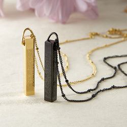 4 Qul 3D Bar Necklace | Women - Nominal