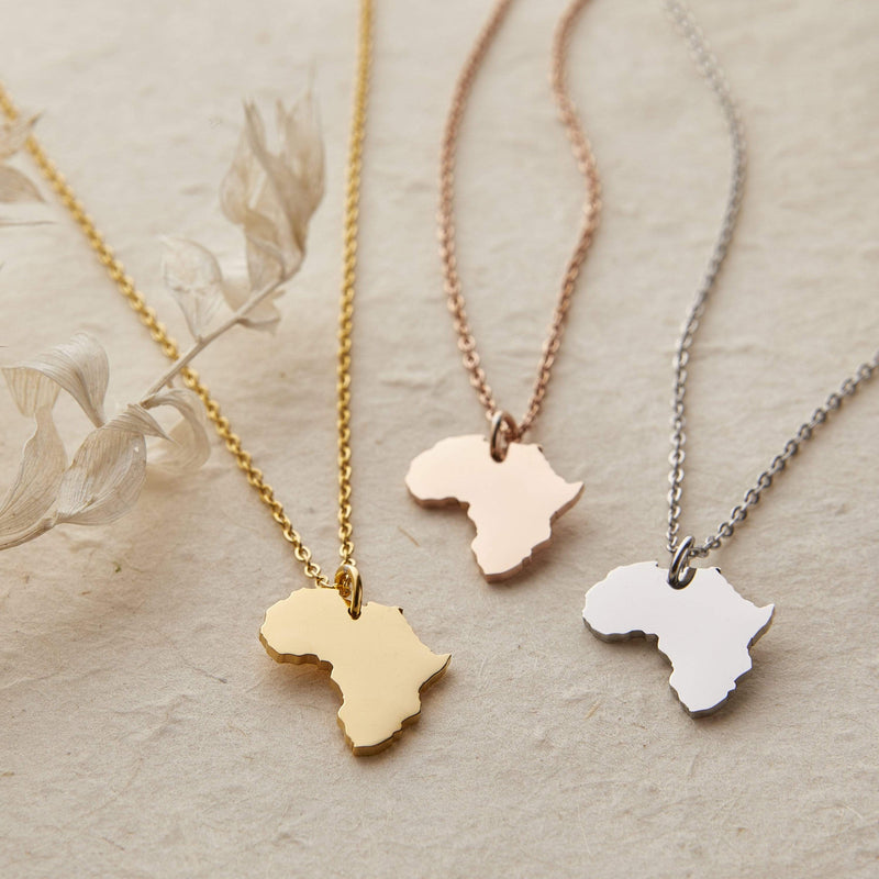 Africa Map Necklace | Women - Nominal