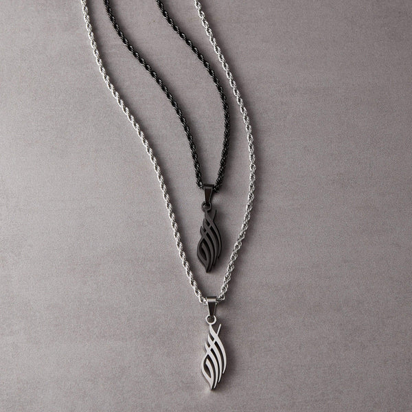 Allah Calligraphy Necklace | Men - Nominal