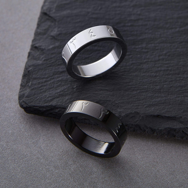 Bold Arabic Numeric Ring | Men - Nominal
