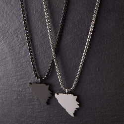 Bosnia Map Necklace | Men - Nominal