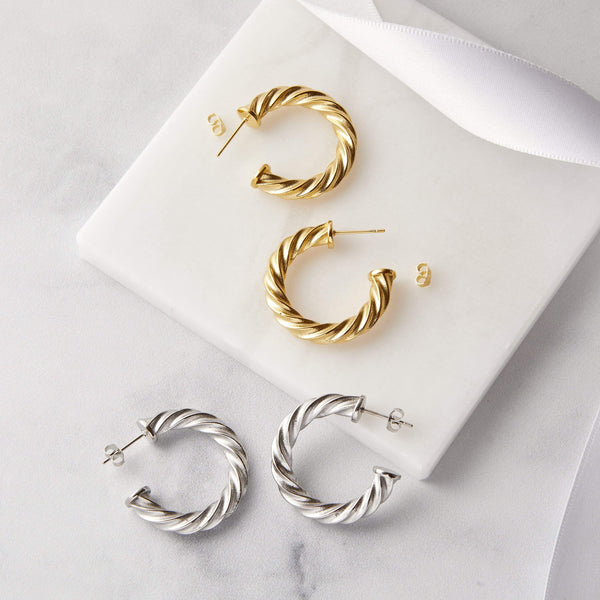 Essential Braided Hoops | Medium - Nominal