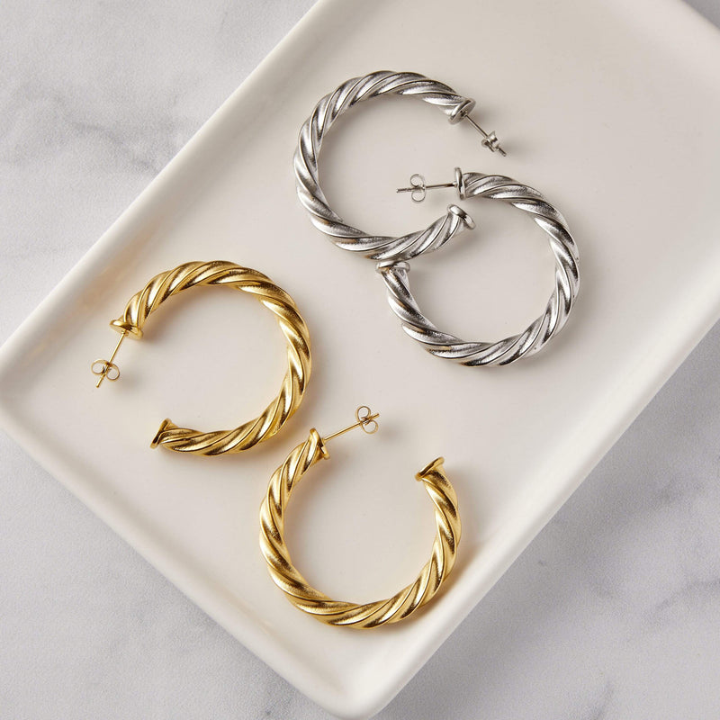 Essential Braided Hoops | Large - Nominal