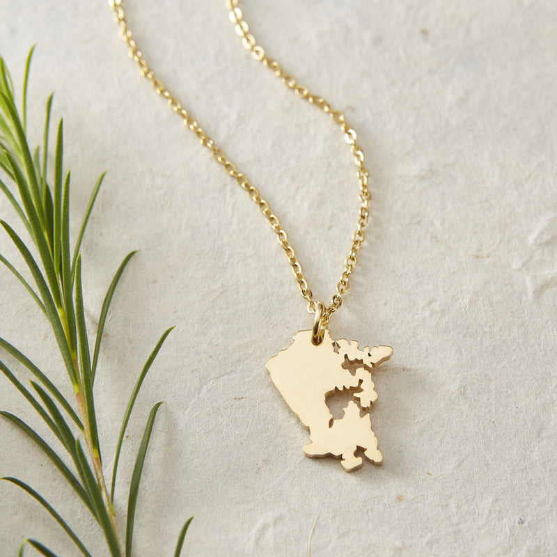 Canada Map Necklace | Women - Nominal