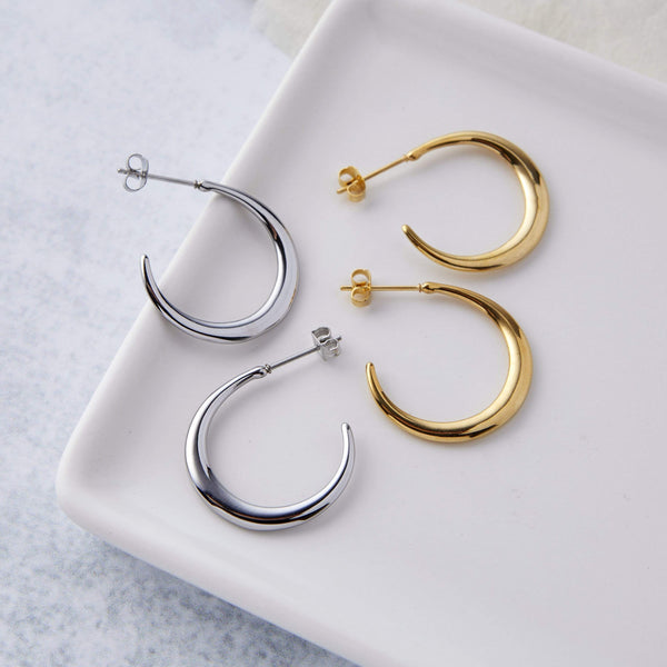 Crescent Hoop Earrings - Nominal