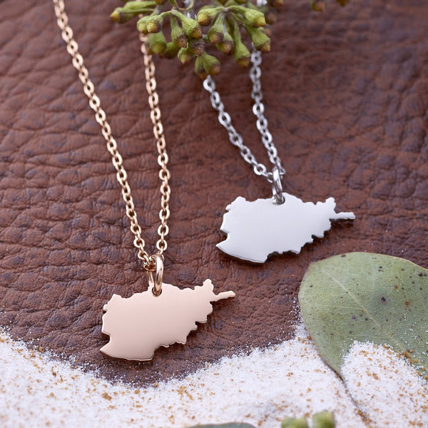 Afghanistan Map Necklace | Women - Nominal