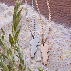Lebanon Map Necklace | Women - Nominal