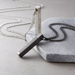 4 Qul Verse 3D Bar Necklace | Men - Nominal