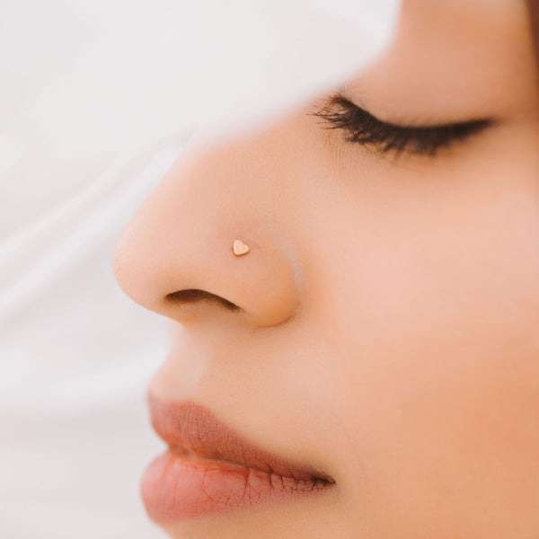 Heart Nose Stud - Nominal