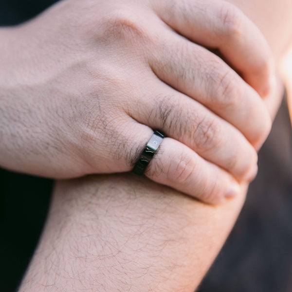 Bold Kaaba Coordinates Ring | Men - Nominal