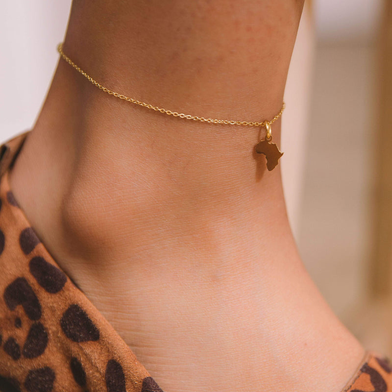 Africa Map Anklet - Nominal