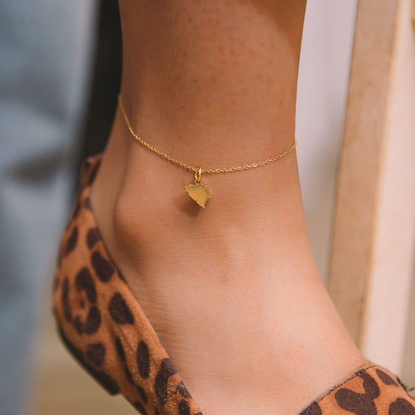Bosnia Map Anklet - Nominal