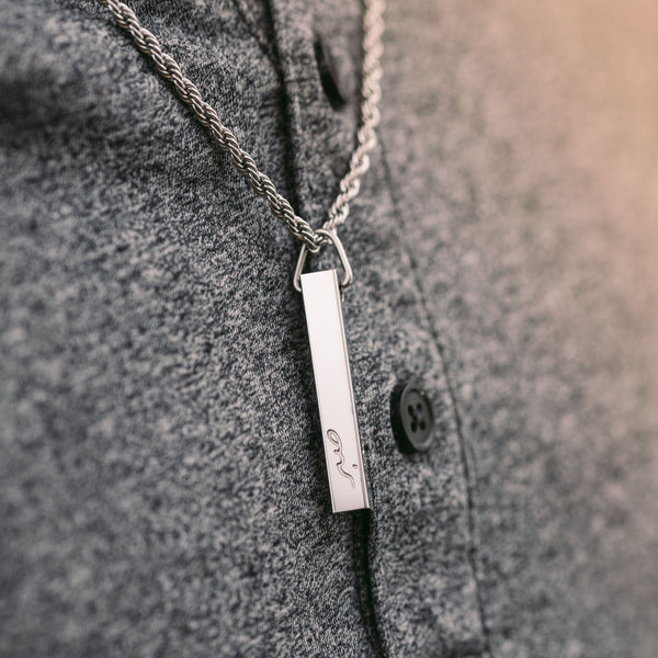 Core Values 3D Bar Necklace | Men - Nominal