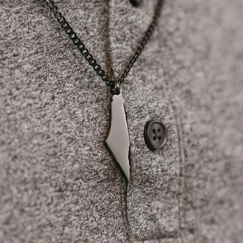 Palestine Map Necklace | Men - Nominal