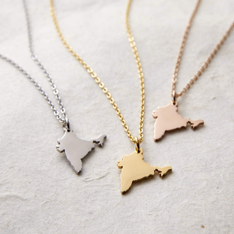 Choose Your Hometown Map Necklace | Women - Nominal