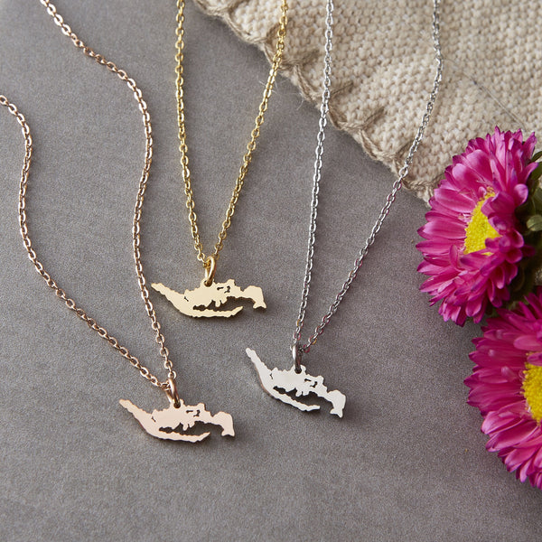 Indonesia Map Necklace | Women - Nominal