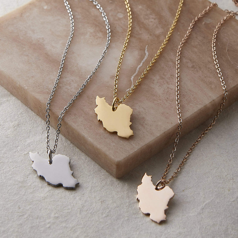Iran Map Necklace | Women - Nominal