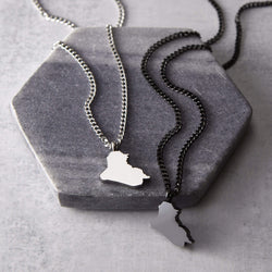 Iraq Map Necklace | Men - Nominal